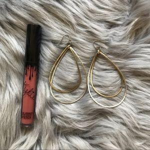 Jewelry - Gold and Silver Teardrop Earrings